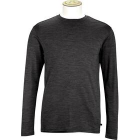 Alchemy 180GSM Single Jersey Merino Long Sleeve Crew Shirt Men Black